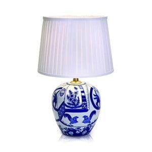 Veľká modro-biela stolová lampa Markslöjd Goteborg