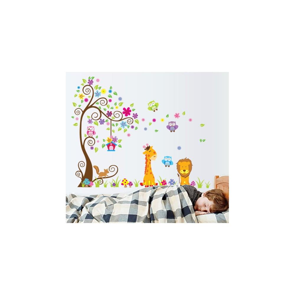 Sada nástenných detských samolepiek Ambiance Giant Tree