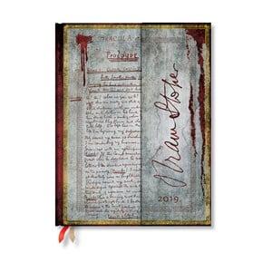Diár na rok 2019 Paperblanks Dracula, 18 x 23 cm