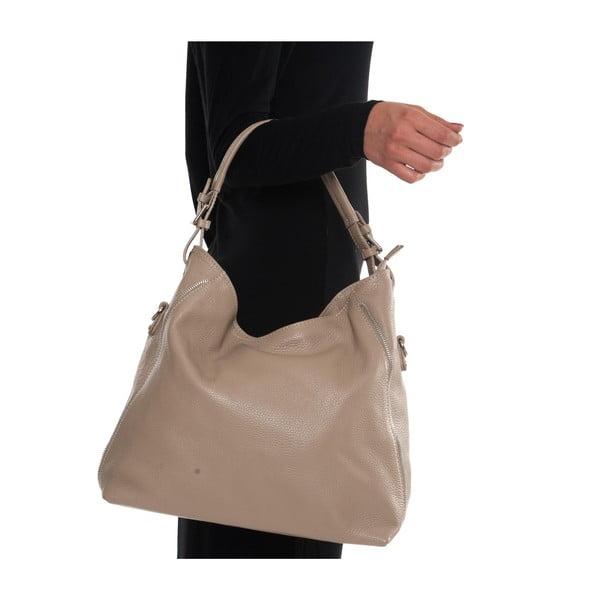 Béžová kožená kabelka Mangotti Aurora