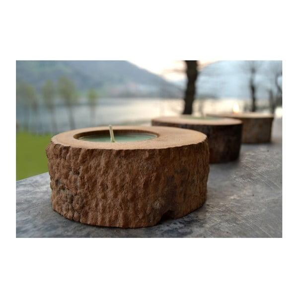 Palmová sviečka Legno Black Wood s vôňou vodného kvetu, 80 hodín horenia