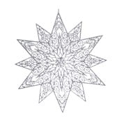 Závesná dekorácia v striebornej farbe Ewax Adornada, ⌀ 45 cm