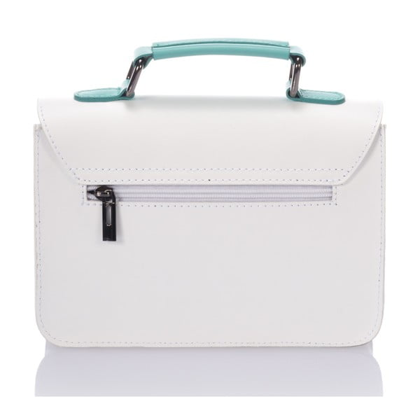 Biela kožená kabelka Lisa Minardi Cristel Green