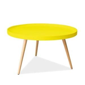 Konferenčný stolík Toni 78 cm, žltý