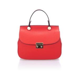Červená kožená kabelka Giorgio Costa Niobe