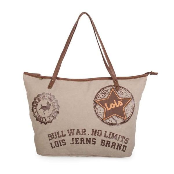 Béžová plátená taška Lois Playera