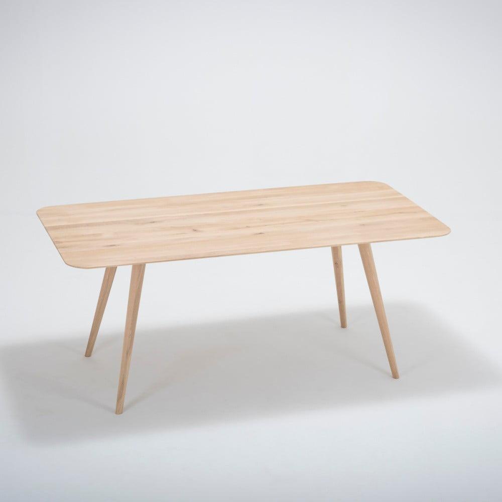 Jedálenský stôl z masívneho dubového dreva Gazzda Stafa, 180 × 90 cm