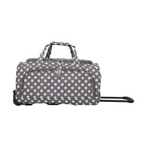 Sivá cestovný taška na kolieskách Travel World Raisa, 34 l