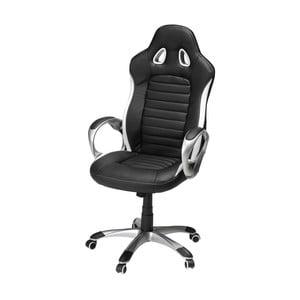 Čierno-biela kancelárska stolička Furnhouse Speedy