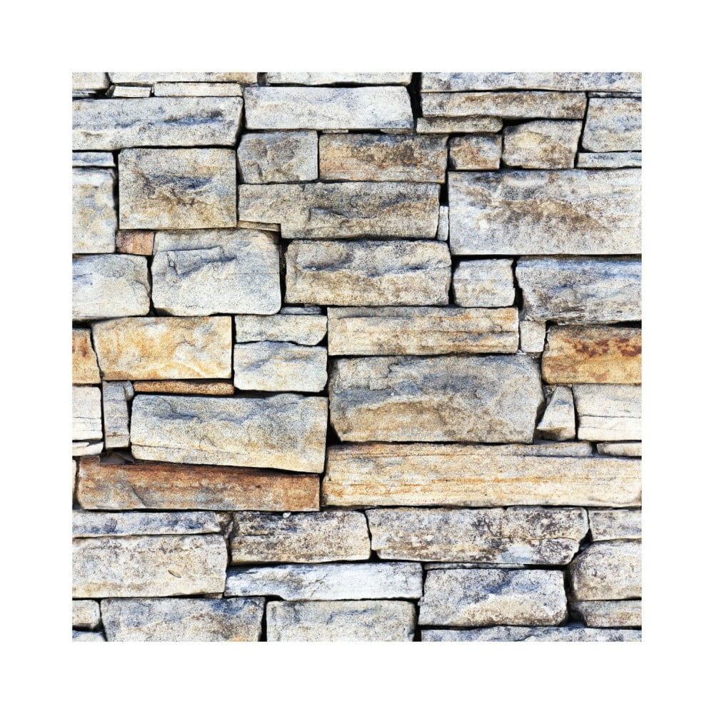 Nástenná samolepka Ambiance Wall Decal Materials Stones of Carthage, 40 × 40 cm