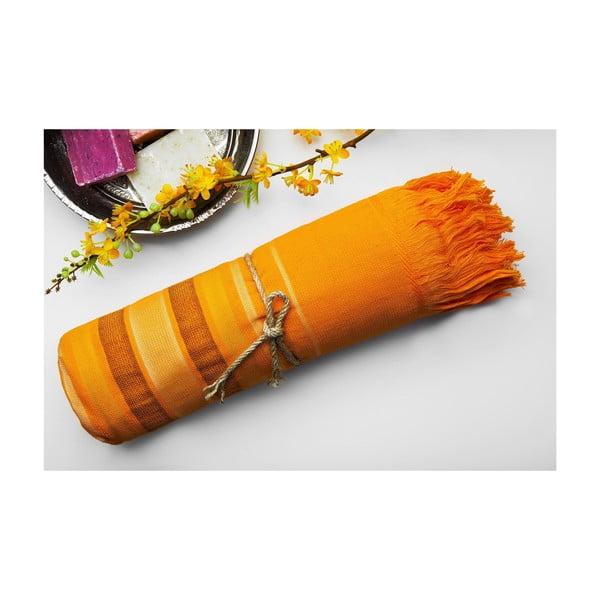 Hamam osuška Cotton Loincloth Orange, 75x170 cm