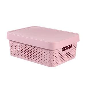 Ružový úložný box Curver SIMPLE Lungo Holes