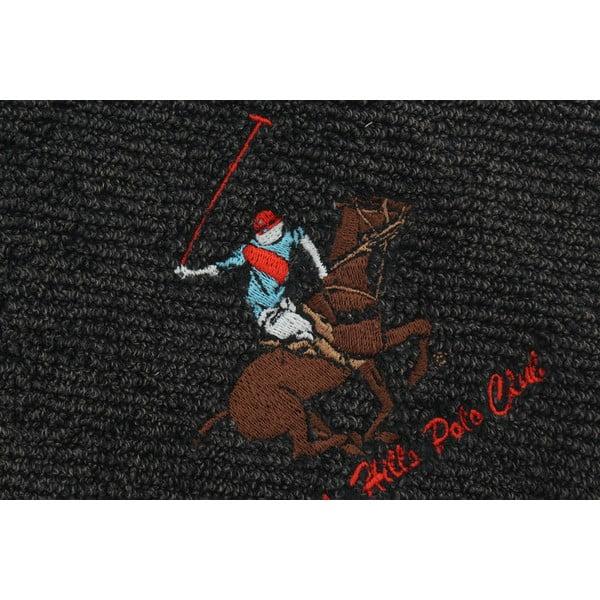 Čierny bavlnený uterák BHPC s výšivkou, 50x100 cm
