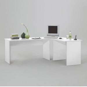 Rohový pracovný stôl Till, biely