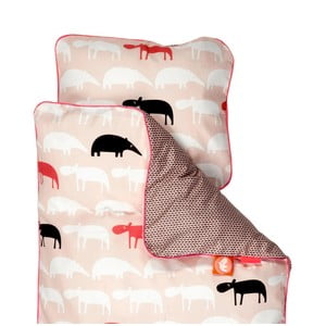 Detské ružové obliečky Done By Deer Zoopreme, 80×100cm