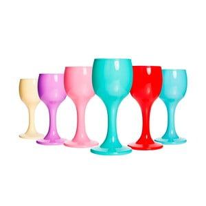 Sada 6 farebných matných pohárikov Okyanus