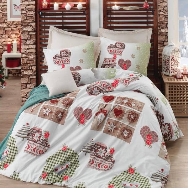 Bavlnené obliečky s plachtou Winter Fairytale, 200 x 220 cm