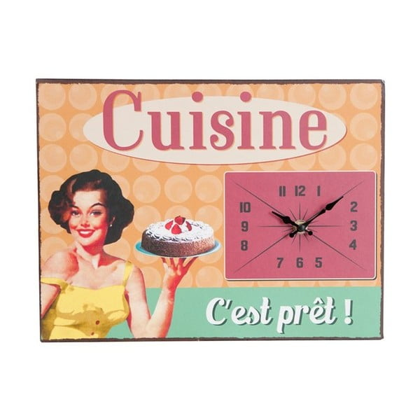 Nástenné hodiny Vintage Cuisine, 32x24 cm