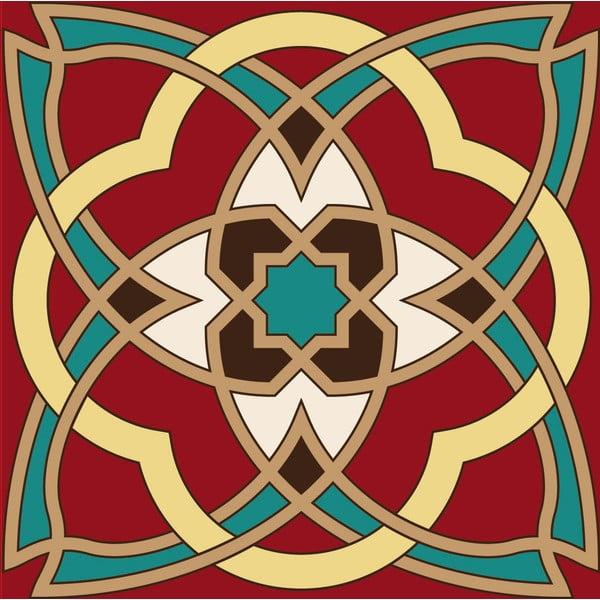 Samolepky Tile Art Red Ornament