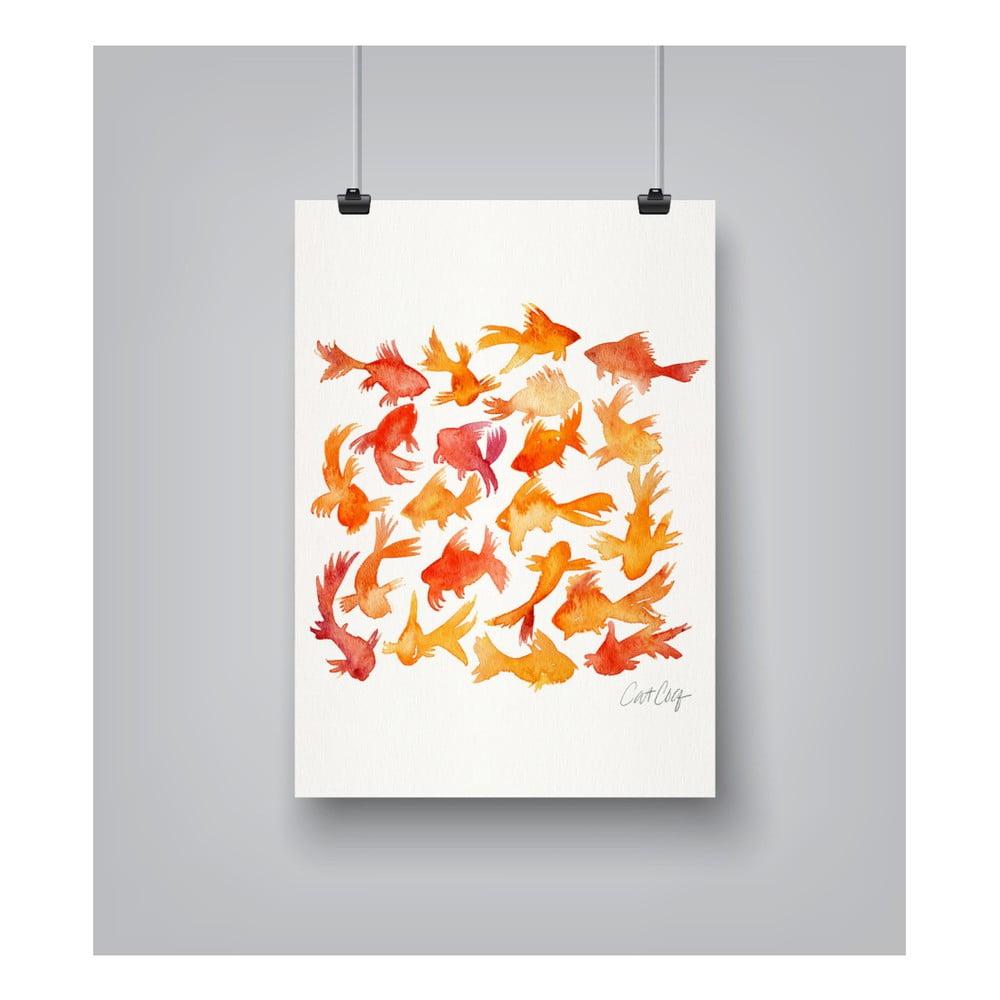 Plagát Americanflat Goldfish, 30 x 42 cm