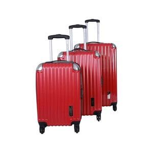 Sada 3 kufrov Jean Louis Scherrer Ensemble Red