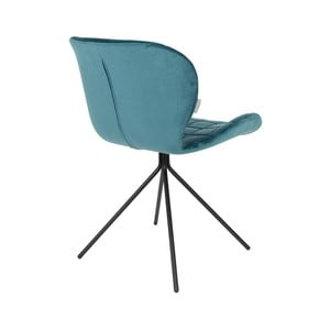 Sada 2 petrolejovo modrých stoličiek Zuiver OMG Velvet