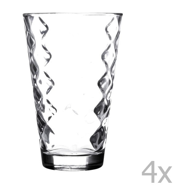 Sada 4 pohárov Essentials Lattice, 300 ml
