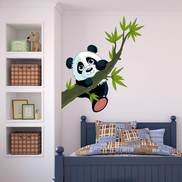 Nástenná detská samolepka Ambiance Panda On Branches