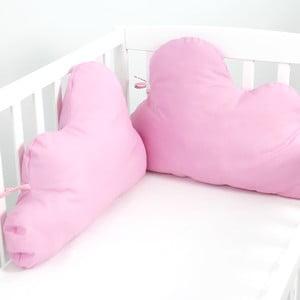 Bavlnená výstelka do postieľky Mr. Fox Nube Pink, 60×40cm