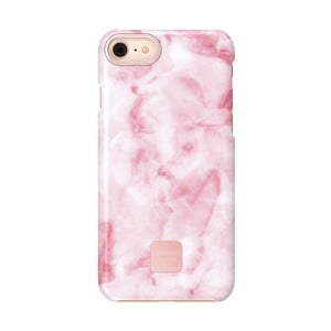 Ružovo-biely ochranný kryt na telefón pre iPhone 7 a 8 Happy Plugs Slim