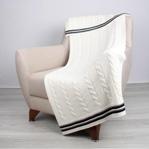 Svetlobéžová bavlnená deka Ciana