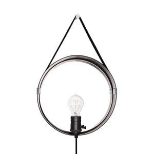 Čierne nástenné svietidlo vo farbe chrómu Globen Lighting Hangover