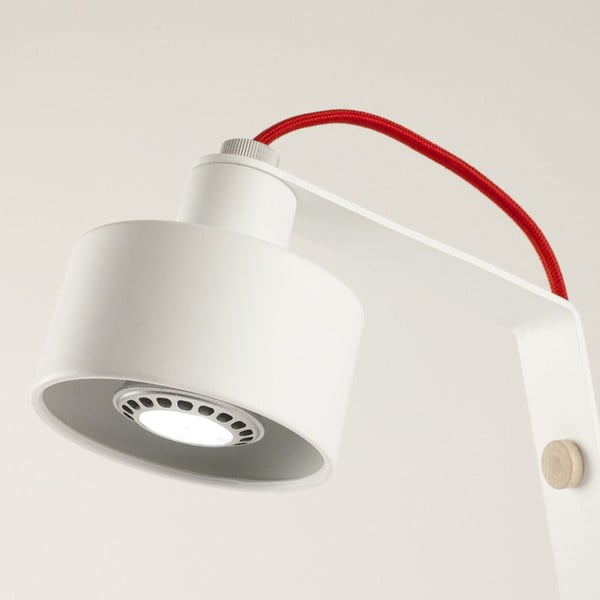 Stolová LED lampa Jazz white/red
