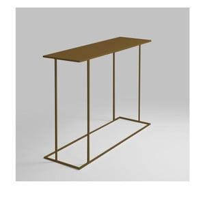 Konzolový stolík v zlatej farbe Custom Form Walt