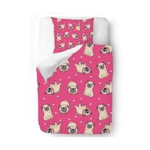 Obliečky Pink Pugs, 140x200 cm