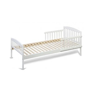 Biela detská posteľ z borovicového dreva YappyKids Classic