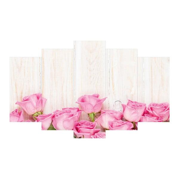 5-dielny obraz Pink Rose