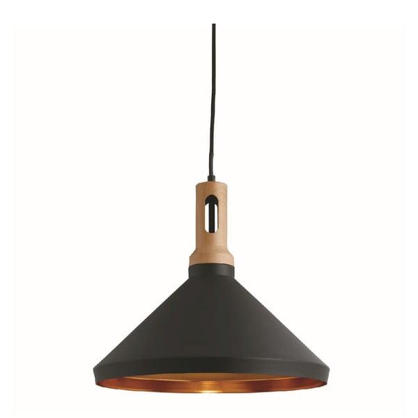 Stropné svetlo Cone Black/Wood