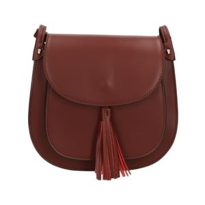 Vínovočervená kožená kabelka Roberto Buono Kara