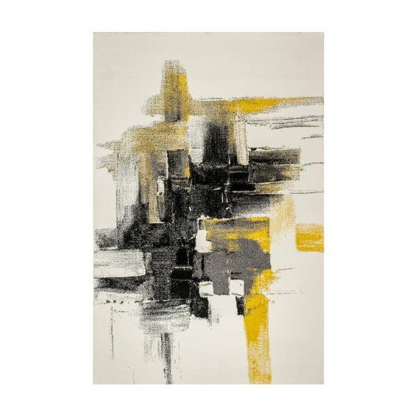 Koberec Farbles, Grey, Yellow, 200x290 cm