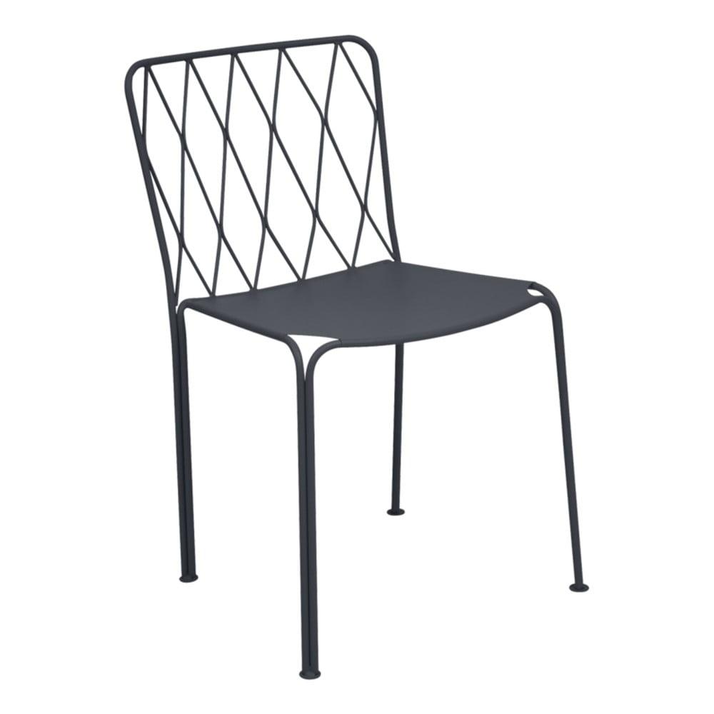 Antracitovosivá záhradná stolička Fermob Kintbury