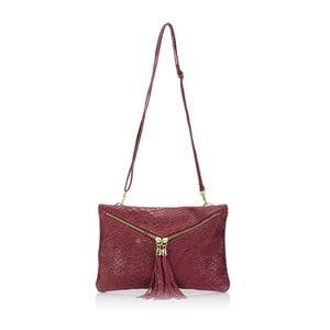 Červená kožená kabelka Giulia Massari Erinn