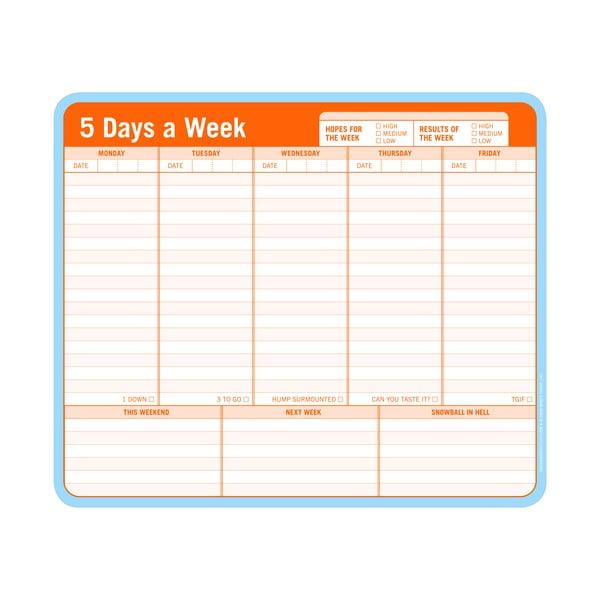 Týždenný plánovač úloh 5 Days a Week