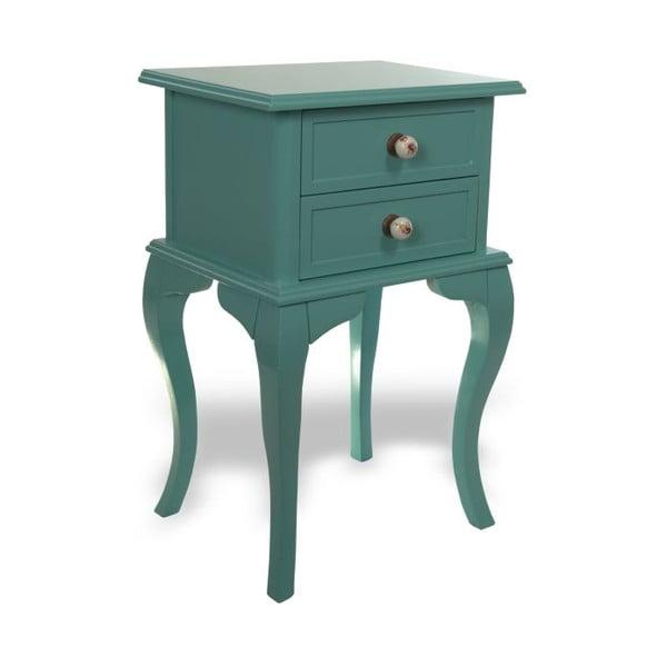 Odkladací stolík Jasmine Turquoise, 44x33x69 cm