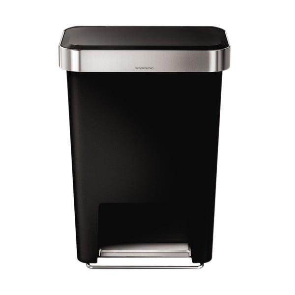 Pedálový kôš na odpadky Pocket 45 l, čierny