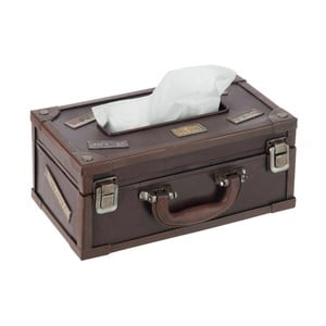 Box na vreckovky Suitcase Cocoa