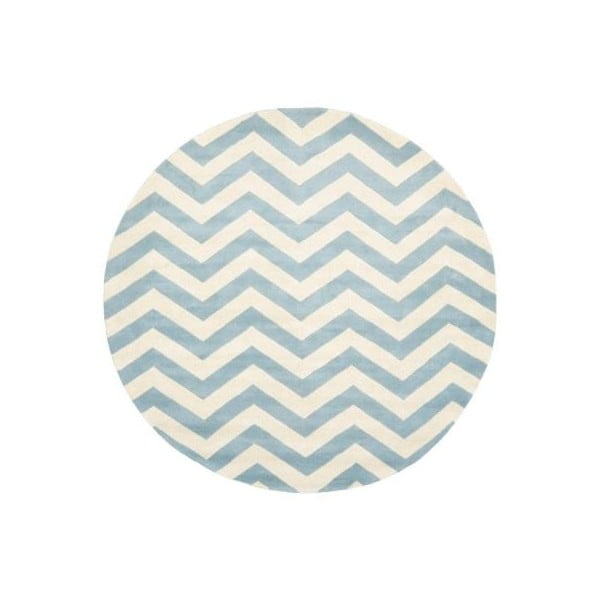 Vlnený koberec Crosby 152 cm, modrý