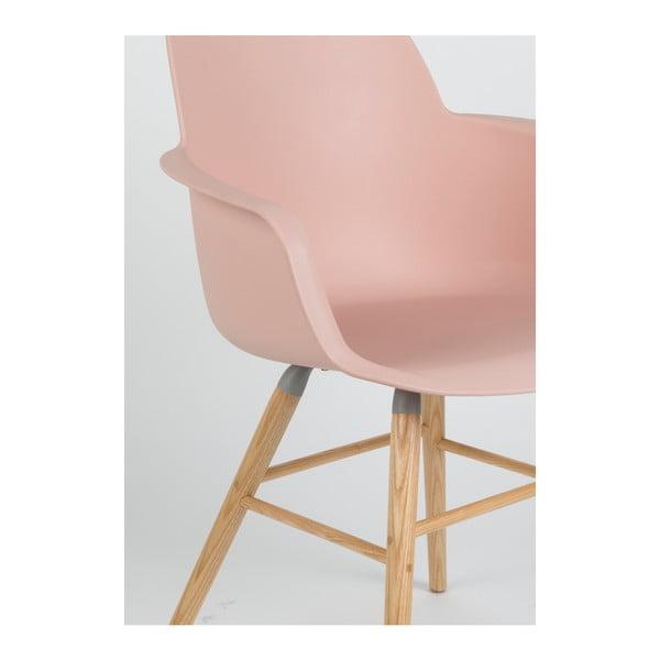 Sada 2 ružových stoličiek s opierkami Zuiver Albert Kuip