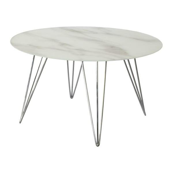 Mramorový odkladací stolík s podnožou v dekore chrómu RGE Sevilla
