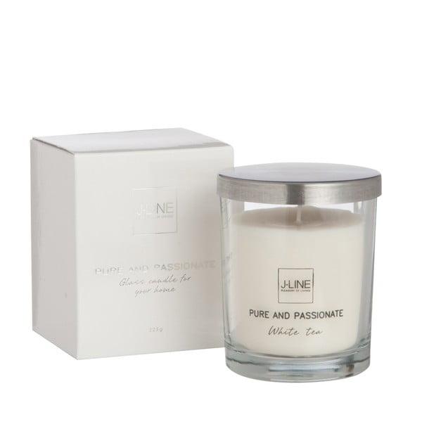 Vonná sviečka Scented Glass, 8x10 cm, vôňa bieleho čaju